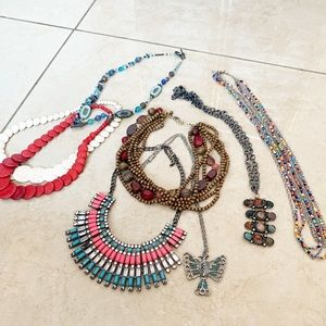 Eight Boho Statement Necklace Bundle